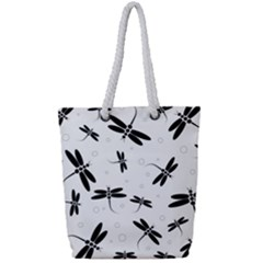 Dragonflies Pattern Full Print Rope Handle Tote (small)