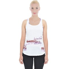 Pink And Purple Santa Monica Pier Silhouette Piece Up Tank Top by pier