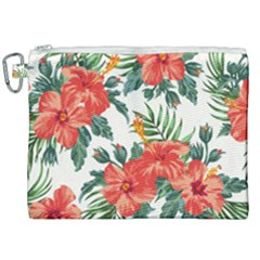 Red Flowers Canvas Cosmetic Bag (xxl) by goljakoff