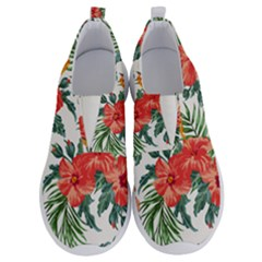 Red Flowers No Lace Lightweight Shoes by goljakoff