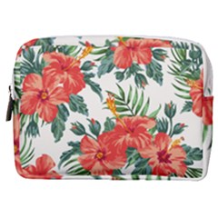 Red Flowers Make Up Pouch (medium) by goljakoff