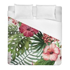 Monstera Flowers Duvet Cover (full/ Double Size) by goljakoff