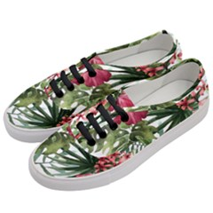 Monstera Flowers Women s Classic Low Top Sneakers by goljakoff
