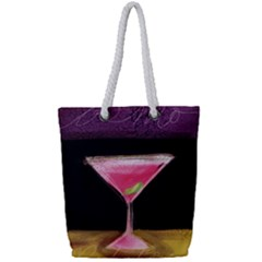 Cosmo Cocktails Full Print Rope Handle Tote (small)