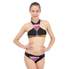 Cosmo Cocktails High Neck Bikini Set
