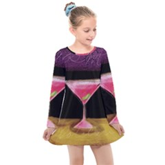 Cosmo Cocktails Kids  Long Sleeve Dress