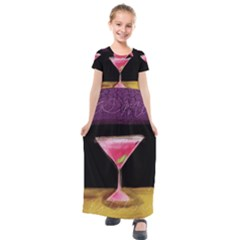 Cosmo Cocktails Kids  Short Sleeve Maxi Dress