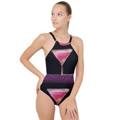 Cosmo Cocktails High Neck One Piece Swimsuit