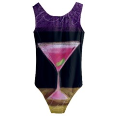 Cosmo Cocktails Kids  Cut Out Back One Piece Swimsuit