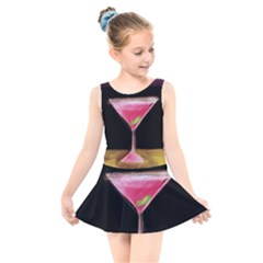 Cosmo Cocktails Kids  Skater Dress Swimsuit