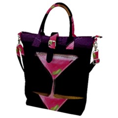 Cosmo Cocktails Buckle Top Tote Bag