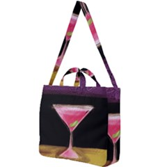 Cosmo Cocktails Square Shoulder Tote Bag