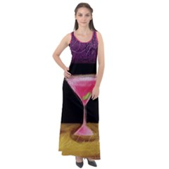 Cosmo Cocktails Sleeveless Velour Maxi Dress