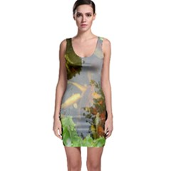 Koi Fish Pond Bodycon Dress