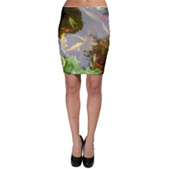 Koi Fish Pond Bodycon Skirt