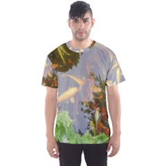 Koi Fish Pond Men s Sports Mesh Tee by StarvingArtisan