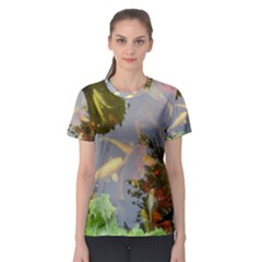 Koi Fish Pond Women s Sport Mesh Tee