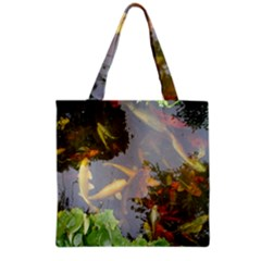 Koi Fish Pond Grocery Tote Bag