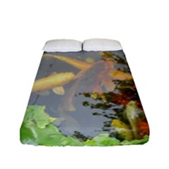 Koi Fish Pond Fitted Sheet (full/ Double Size)