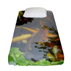 Koi Fish Pond Fitted Sheet (single Size)