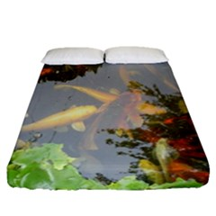 Koi Fish Pond Fitted Sheet (queen Size)