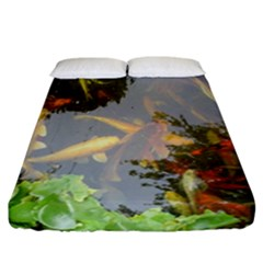 Koi Fish Pond Fitted Sheet (california King Size)