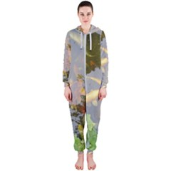 Koi Fish Pond Hooded Jumpsuit (ladies)
