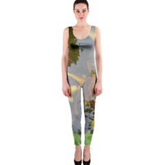 Koi Fish Pond One Piece Catsuit
