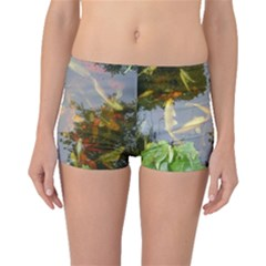 Koi Fish Pond Boyleg Bikini Bottoms