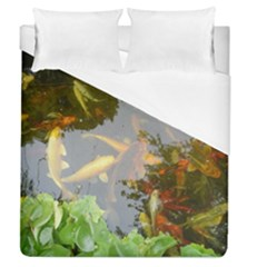 Koi Fish Pond Duvet Cover (queen Size)