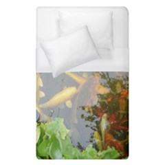 Koi Fish Pond Duvet Cover (single Size)