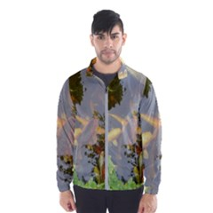 Koi Fish Pond Windbreaker (men)