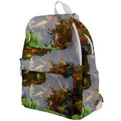 Koi Fish Pond Top Flap Backpack