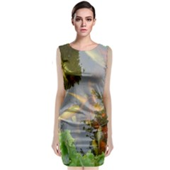 Koi Fish Pond Classic Sleeveless Midi Dress