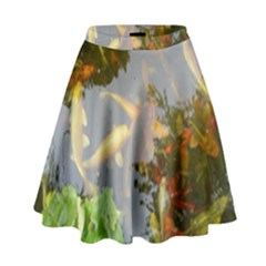 Koi Fish Pond High Waist Skirt by StarvingArtisan