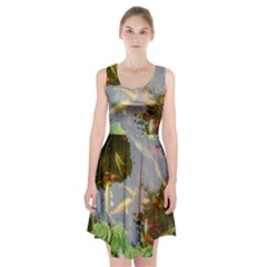 Koi Fish Pond Racerback Midi Dress