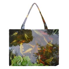 Koi Fish Pond Medium Tote Bag