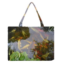Koi Fish Pond Zipper Medium Tote Bag