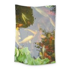 Koi Fish Pond Small Tapestry