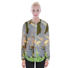 Koi Fish Pond Womens Long Sleeve Shirt