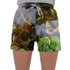 Koi Fish Pond Sleepwear Shorts