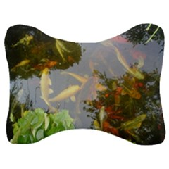 Koi Fish Pond Velour Seat Head Rest Cushion