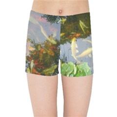 Koi Fish Pond Kids  Sports Shorts