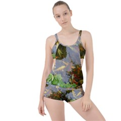 Koi Fish Pond Boyleg Tankini Set