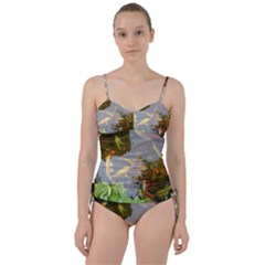 Koi Fish Pond Sweetheart Tankini Set