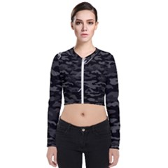 Combat76 Black Chain Camo Long Sleeve Zip Up Bomber Jacket