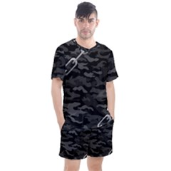 Combat76 Black Chain Camo Men s Mesh Tee And Shorts Set by GracieGirlCaliforniaCentralValleysSpritof76