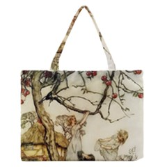 Vintage   Apple Picking Zipper Medium Tote Bag by WensdaiAddamns