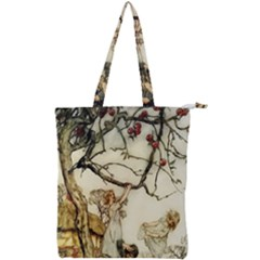 Vintage   Apple Picking Double Zip Up Tote Bag by WensdaiAddamns