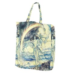 Vintage   To See The Sea Giant Grocery Tote by WensdaiAddamns